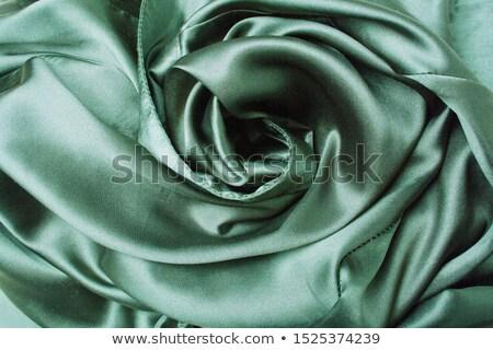 Yeşil ipek kumaş doku arka plan Stok fotoğraf © Sarkao