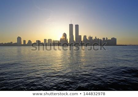 Manhattan New York skyline from NY bay US Stock photo © lunamarina
