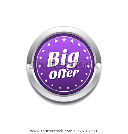 big offer purple circular vector button stock photo © rizwanali3d