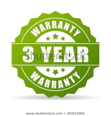 3 years warranty green vector icon button stock photo © rizwanali3d