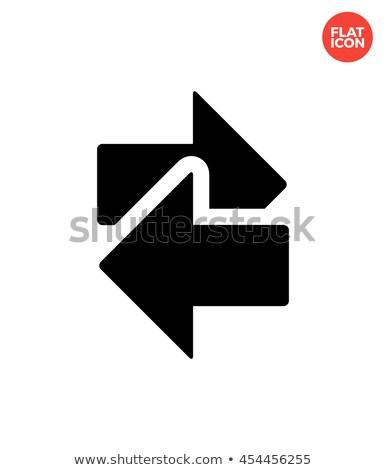 Interchange icon on white background. Stock photo © tkacchuk