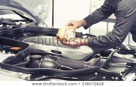 dos · coche · petróleo · filtrar · blanco - foto stock © ruslanomega