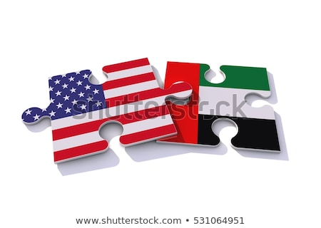 usa and united arab emirates flags in puzzle stock photo © istanbul2009