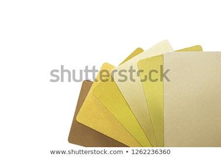 Cartões de crédito ventilador isolado branco compras Foto stock © pixelman