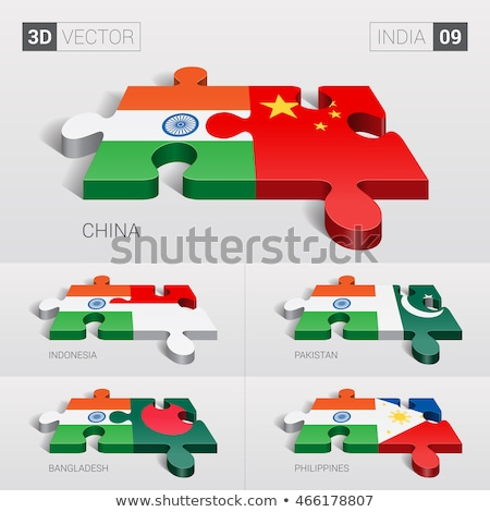 Indonesia and India Flags in puzzle Stock photo © Istanbul2009