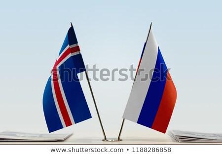Russia Islanda miniatura bandiere isolato bianco Foto d'archivio © tashatuvango