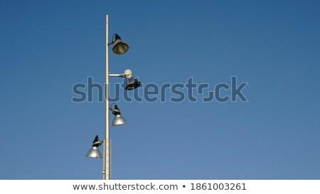 verlichting · kolom · geïsoleerd · heldere · blauwe · hemel · hemel - stockfoto © rekemp