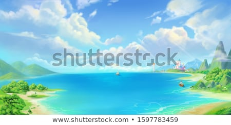 ocean landscape with green nature stock photo © sportactive