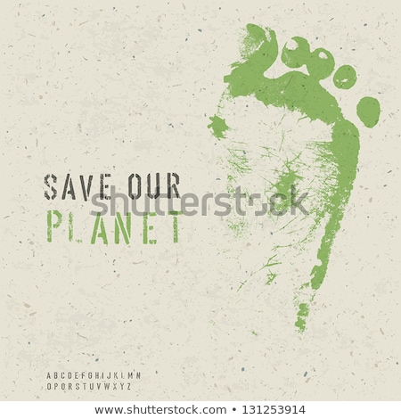 Eco Friendly Design Template (Texture and Stencil Alphabet and L Stock photo © pashabo