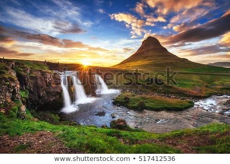 Sunset at Mount Kirkjufell Stock photo © elxeneize