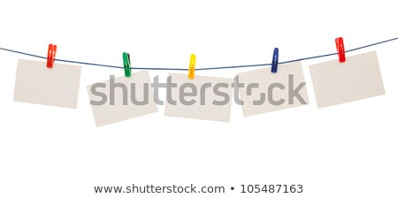 lege · papier · vel · wasknijper · Blauw · geïsoleerd - stockfoto © inxti