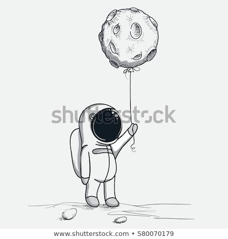Cosmonaute satellite soleil Photo stock © cherezoff