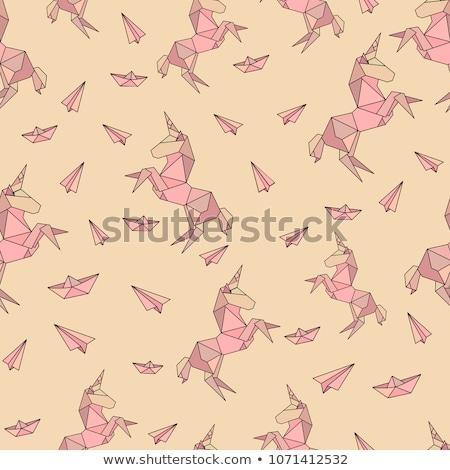 roze · meetkundig · laag · stijl · illustratie · grafische - stockfoto © mcherevan