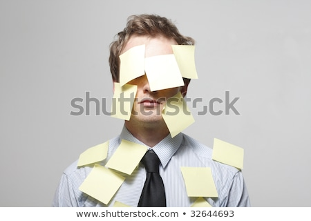 business man with empty stickers stock photo © fuzzbones0