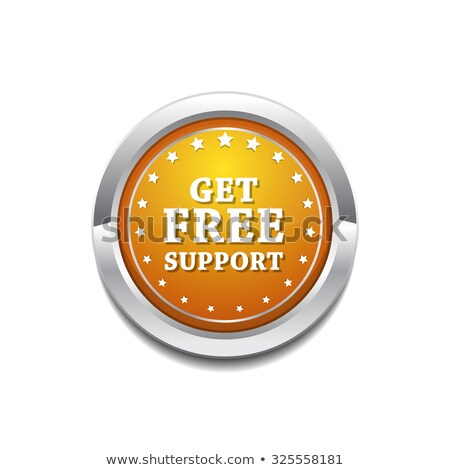 Get Free Support Yellow Vector Icon Button stock photo © rizwanali3d