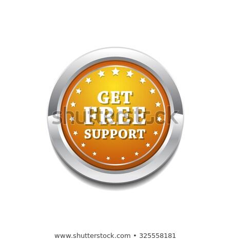 ücretsiz · destek · sarı · vektör · ikon · düğme - stok fotoğraf © rizwanali3d