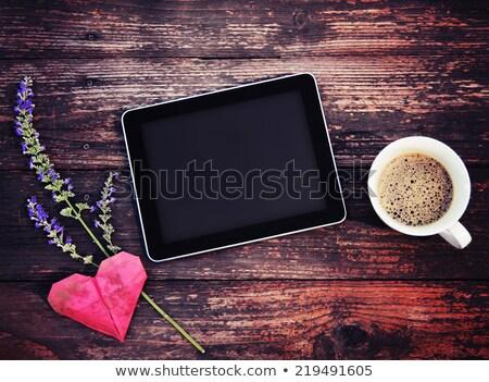 ретро сердце столе избирательный подход любви Сток-фото © stevanovicigor