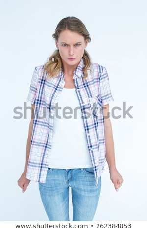 Upset hipster with tight fists  Stock photo © wavebreak_media
