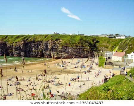 summer holidays on ballybunion beach Stock photo © morrbyte