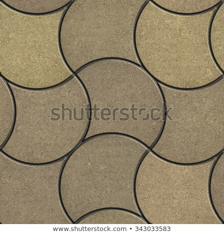 Decorative Wavy Pavement Slabs in Beige Tones. Stock photo © tashatuvango