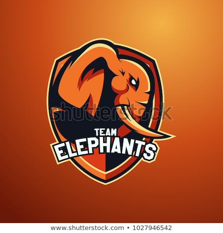 elefant · înfricoşător · sport · mascota · ilustrare - imagine de stoc © krisdog