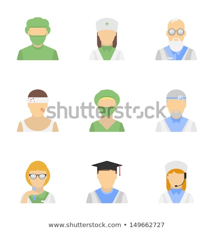 Doctor on Duty Icon. Flat Design. Stock photo © WaD