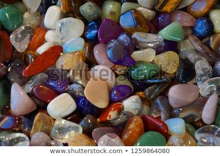 mineral · aislado · blanco · naturaleza · rock · rojo - foto stock © jonnysek