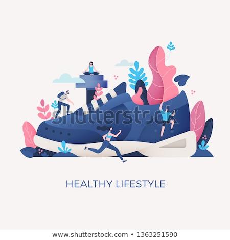 Sağlıklı yaşam hareket kişi üst grup sebze Stok fotoğraf © Lightsource