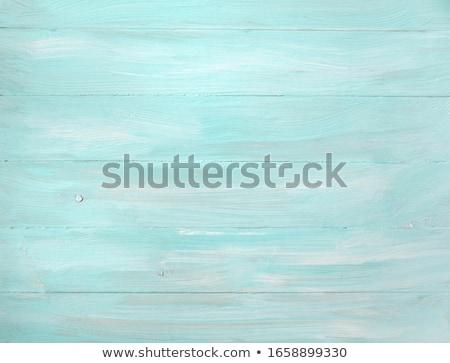 Crackle painted turquoise blue wood texture Stock photo © ozgur