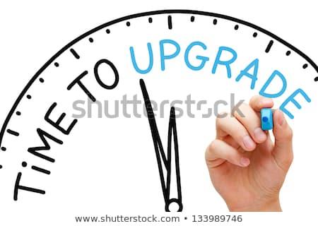 Upgrade Blue Marker Stock photo © ivelin