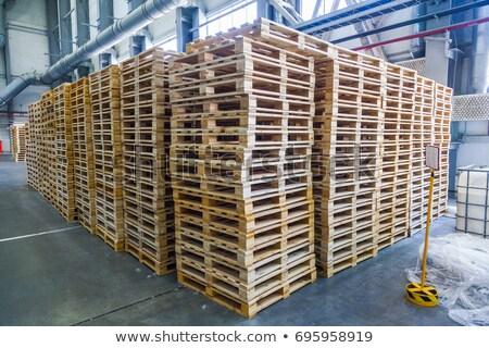 dok · foto · drie · gebruikt · vrachtwagens · business - stockfoto © digifoodstock