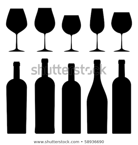 wine glass in black back Stock photo © prill