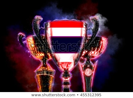 Trophy cup textured with flag of Thailand. 2D Digital illustration Stock photo © Kirill_M