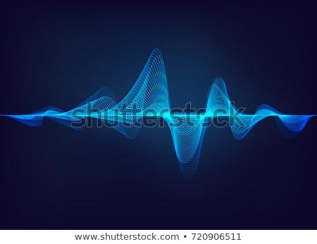 Hanghullám zene absztrakt hang minta hangfalak Stock fotó © DzoniBeCool