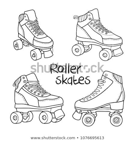 skate · schaatsen · schoen · kalk · eps · achtergrond - stockfoto © rastudio