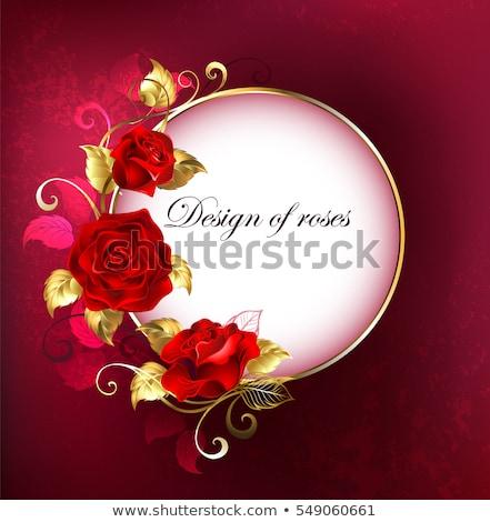 баннер красные розы белый листьев красный Сток-фото © blackmoon979