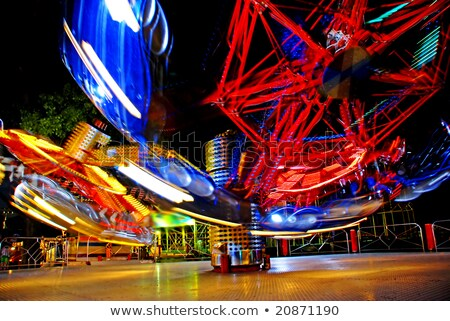 carousel in evening park Stock photo © simply