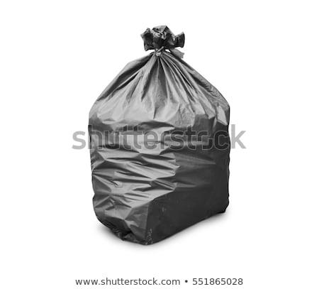 Prullenbak zak verontreiniging witte schone plastic Stockfoto © racoolstudio