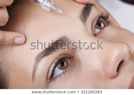 mooie · vrouw · schoonheid · gezicht · injectie · veroudering · arts - stockfoto © yatsenko