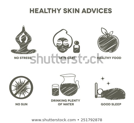 Healthy skin advices symbol collection Stock photo © Tefi