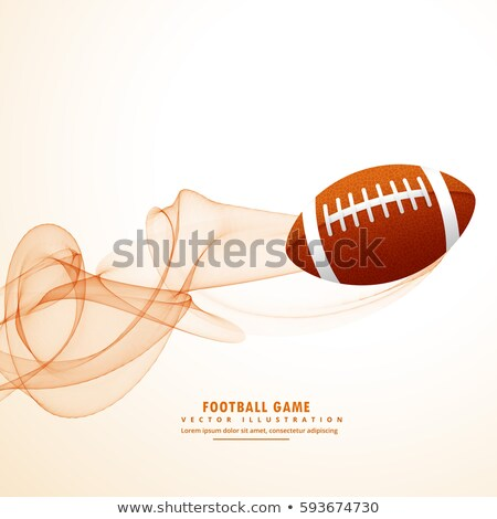 rugby ball with abstract wavy lines effect Stock photo © SArts