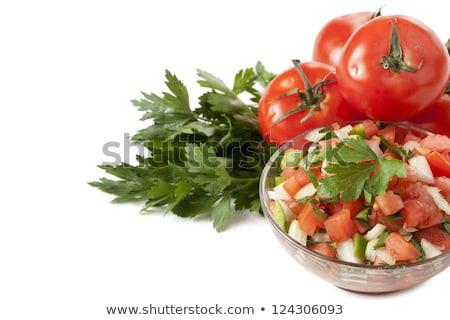 świeże salsa puchar warzyw cebula pomidory Zdjęcia stock © Digifoodstock