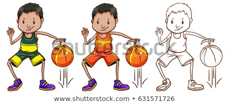 Drafting character for basketball player Stock photo © bluering
