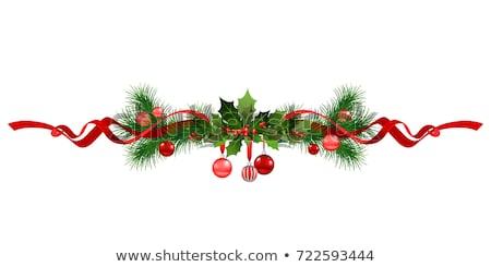 вектора Рождества дерево украшение золото дизайна Сток-фото © fresh_5265954