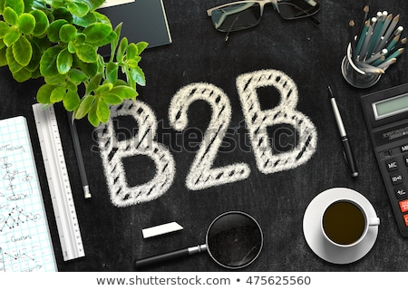 B2b zwarte schoolbord 3D Stockfoto © tashatuvango