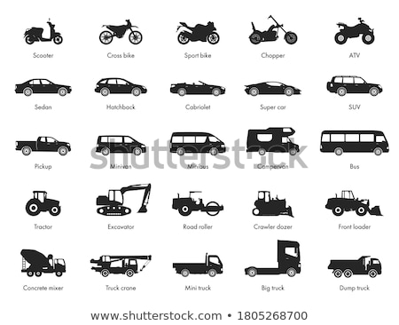 Bicycle silhouette isolated on white background. Vector. Stock photo © NikoDzhi
