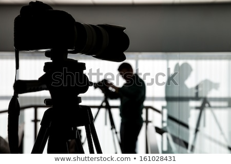 silhouette of photographer and studio shot as workplace stock photo © master1305