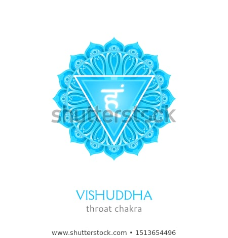 Vetor chakra símbolo ilustração garganta hinduismo Foto stock © TRIKONA