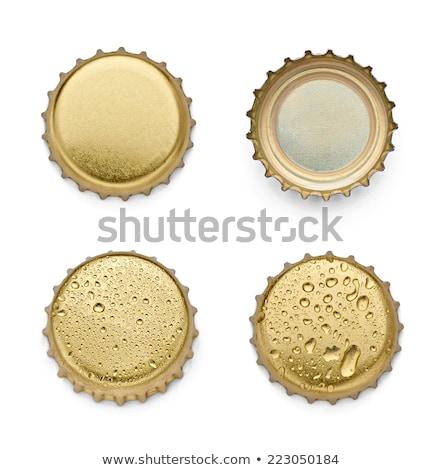Beer bottle cap isolated on white background. Stock photo © tuulijumala