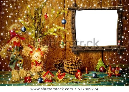 Photo frame template with scarecrows  Stock photo © bluering